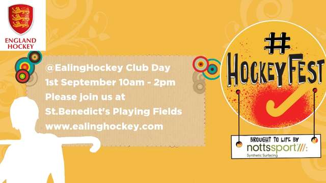 Our England Hockey Club Festival - 1st of September - Save the date!!