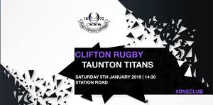 Clifton name team to face Taunton Titans