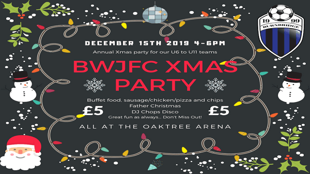 ⛄❄️BWJFC Junior Xmas Party 2019❄️⛄