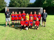Clevedon UTD girls U11's in their new kit supplied by Benchmark Project Management (UK) Limited