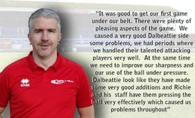 Manager gives thoughts after pre-season opener