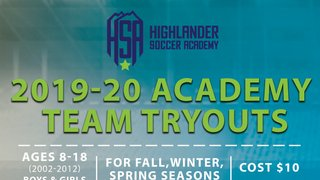 Tryouts for 2019/20 Season have been announced!