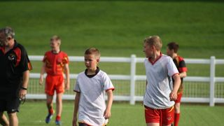 U14's First time on the new pitch