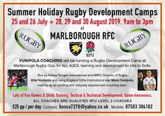 MRFC Summer Holiday Rugby Development Camp