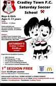 SATURDAY SOCCER SCHOOL - AGES 4 -11 YEARS