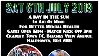 'Mind' Charity Game - Cradley Town FC vs Allstars Xl  - Tickets On Sale Now !!!
