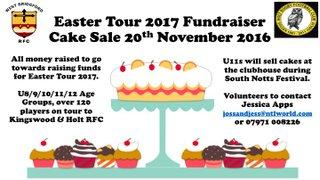 Cake Sale - Easter Tour Fundraiser - 20th November 2016