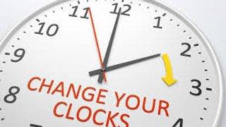 Clocks Change Tonight