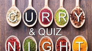 Junior Section - Curry and Quiz Night - Friday 15th March 2019