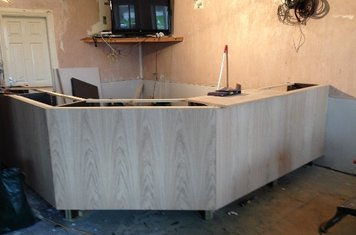 First pieces of the new bar (17/02/14)
