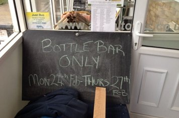 Sorry everybody - bottles only Mon 24 Feb until Thur 27 Feb while we switch bars.