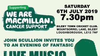 MacMillan Cancer Support Fundraiser 2019