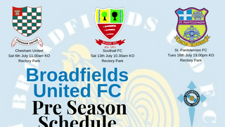 Pre-Season 19/20 Training and Fixtures Schedule