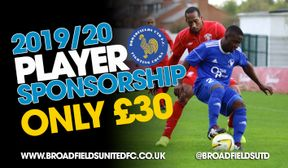 Player Sponsorship for 2019-20 Season