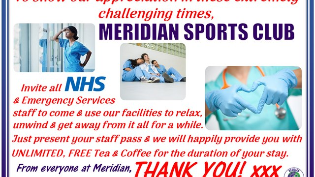 Meridian support NHS & Emergency Services staff