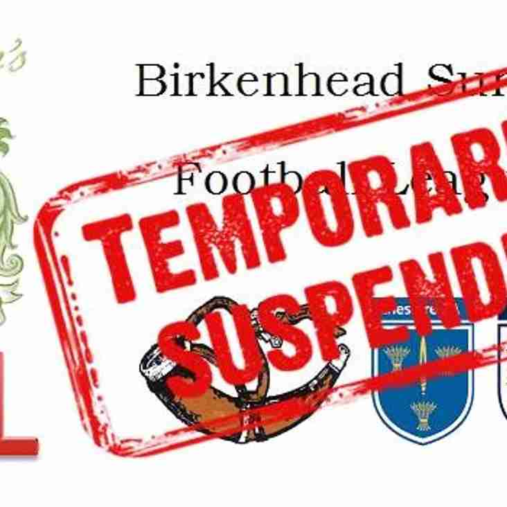 Birkenhead Sunday League - Temporary Shutdown 25 Oct to 1 November inclusive