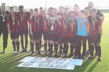 Celebrating winning the MJPL Minor Cup in 2018