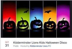 Kidderminster Lions Kids Halloween Disco Thursday 31st October 2019