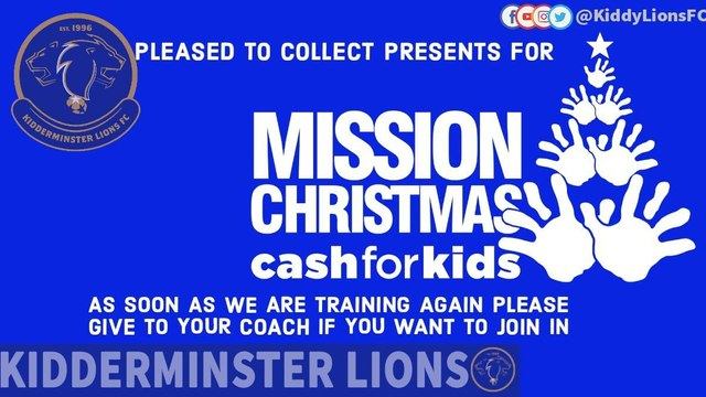Kidderminster Lions FC Mission Christmas