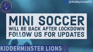 Mini Soccer Lockdown Update!