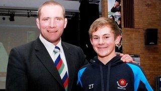 Zak Tyler meets rugby legend