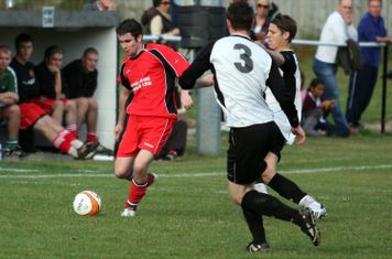 Jamie McCormack about to cross the ball