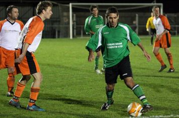 Gaz takes the defender on