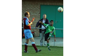 Gary Walters crosses the ball