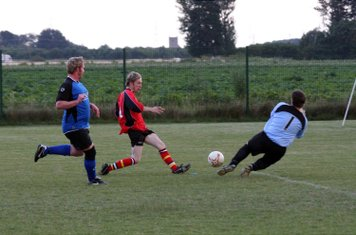 Jamie Shaw is foiled by the Fulbeck keeper