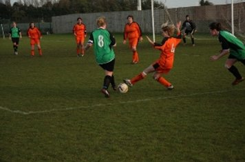 Dani Scurr makes a tackle