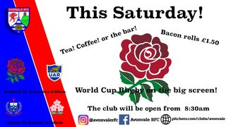World Cup Rugby on the big screen!