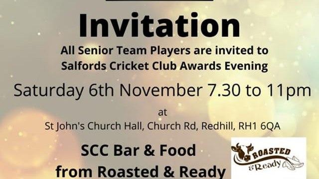 Senior Players Award Ceremony - Saturday 6th November
