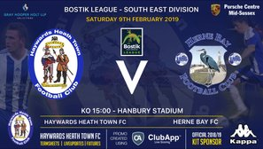 Weekend Preview as Heath Welcome Herne Bay FC