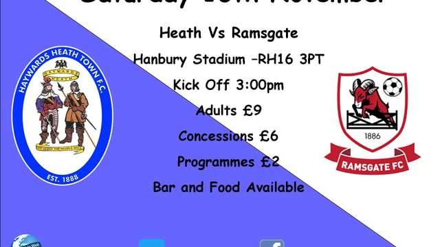 Next Match - Ramsgate - Home