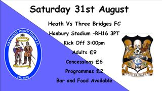 Another Local Derby as Three Bridges Visit Hanbury