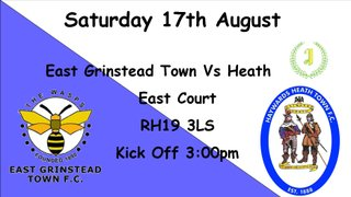 League Season Begins away at East Grinstead Town