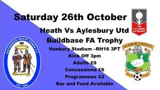 Heath to Face Aylesbury Utd in Buildbase FA Trophy
