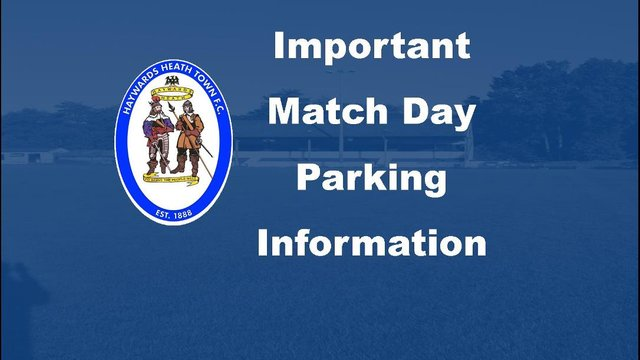 Important Notice - Match Day Parking - Change