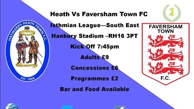 Next Match - Faversham Town - Home