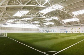 Training indoors at Aberdeen Sports Village