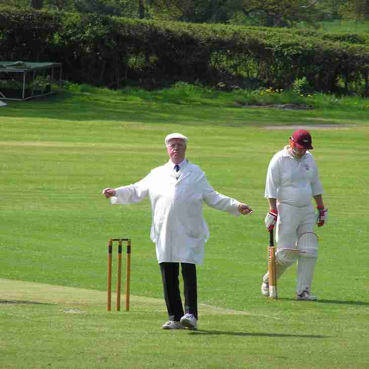Umpires this week and 1.30 pm starts