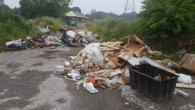 Fly-tippers dump massive lorryload of rubbish outside our club