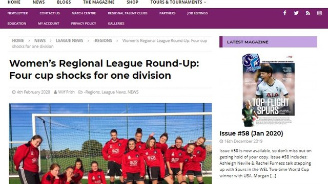 SLB Ladies' JGMT win, hits the online media and press news!