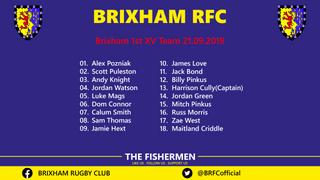 Brixham 1st XV Team 21.09.2019