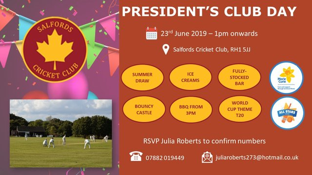 World Cup Themed Club Day - 23rd June