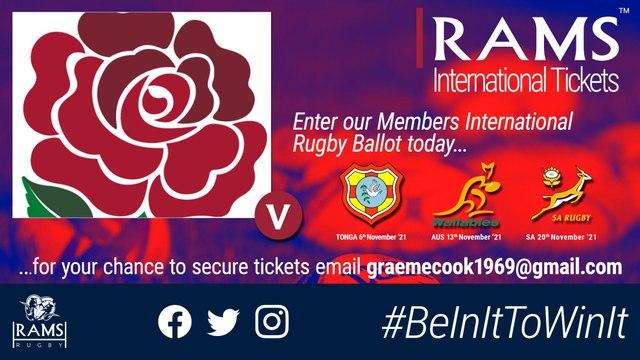 England Rugby - Autumn International tickets