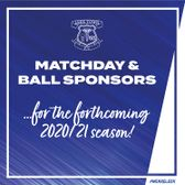 2020/21 MATCH DAY & BALL SPONSORS