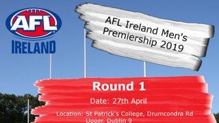 Round 1 - AFL Ireland Premiership 2019