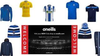 O'Neills online club shop now live
