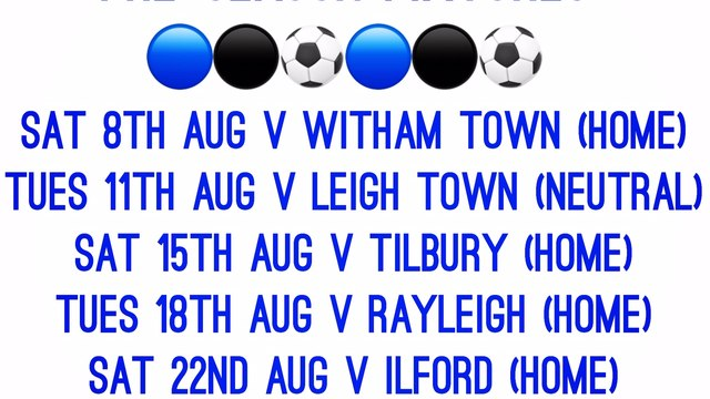 Ramblers 1st Team Friendly Fixtures Announced